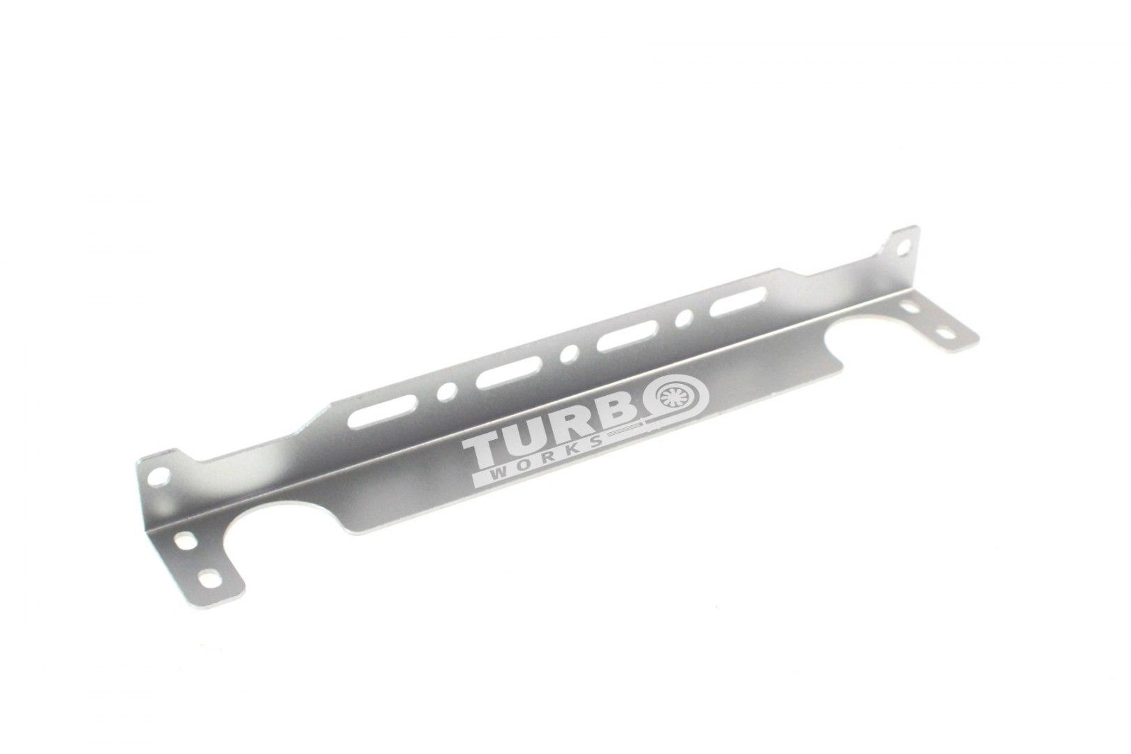 Uchwyt montażowy chłodnicy oleju TurboWorks 248mm Srebrny - GRUBYGARAGE - Sklep Tuningowy
